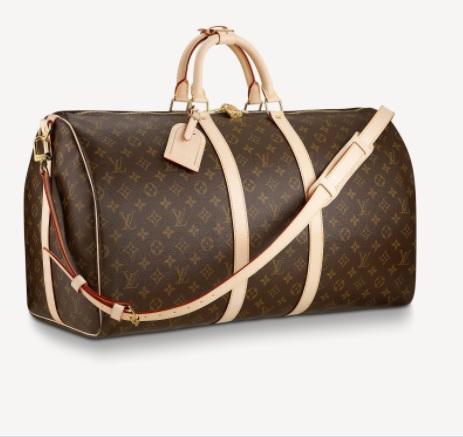 le sac en cuir Louis Vuitton Keepall Bandouliere 50
