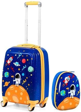 Lot de 2 valises Enfant Rigides GOPLUS