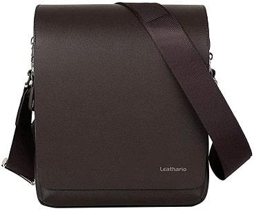 Leathario sac bandoulière homme en cuir